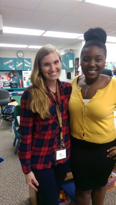 Site Coordinator, Lauren Sima on left